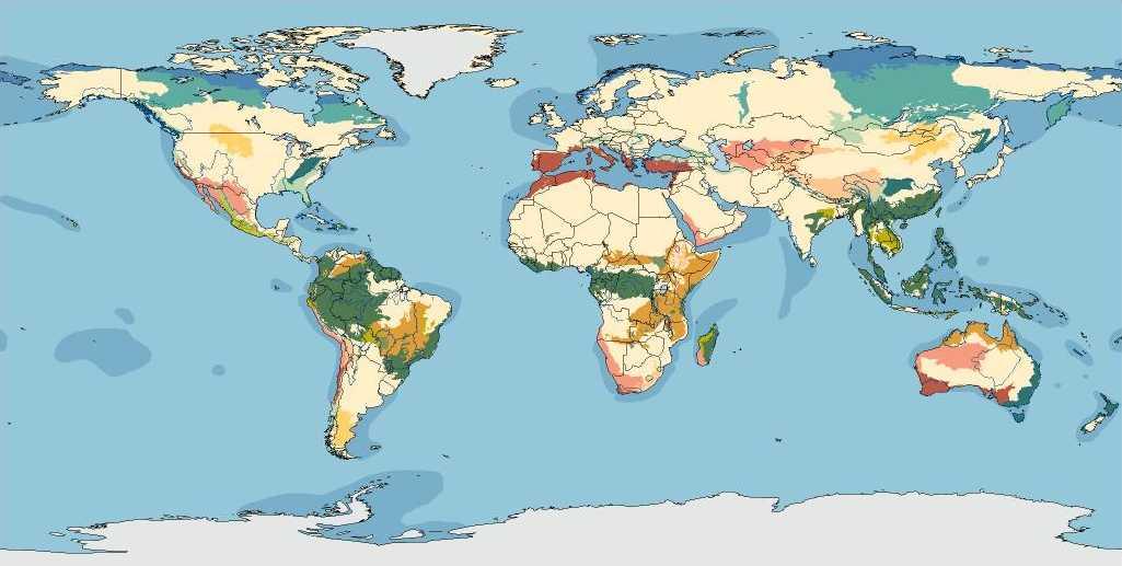 Biomas regiones biogeogrficas y ecoregiones de los pases del mapa de las ecorregiones 54 kb jpg gumiabroncs Image collections