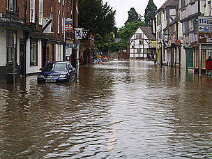The town of Tewkesbury in Gloucestershire, UK, was badly affected by the floods in July 2007.  © Cheltenham Borough / Flickr.com