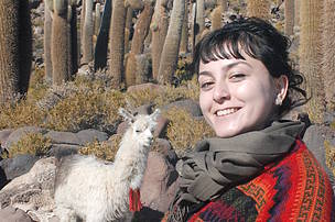 Funda Gacal from Turkey, WWF GIS Volunteer with WWF Bolivia in 2013