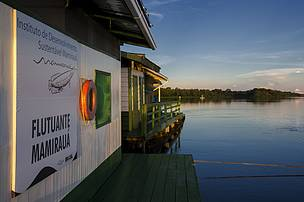 Floating base of Instituto Mamirauá in the Brazilian state of Amazonas.