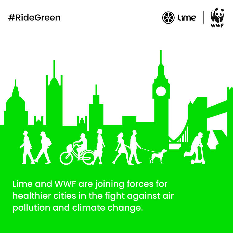 Lime and WWF Partner in Fight to Curb Car Pollution for Healthier, More Liveable Cities