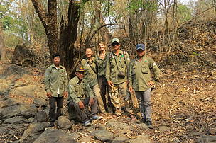 A group of WWF researcher team for elephant dungs (DNA) in PPWS