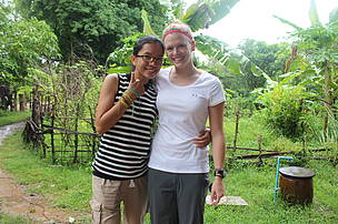 Me and Julia at Koh Pdao (Bamboo Island), Kratie, Cambodia.