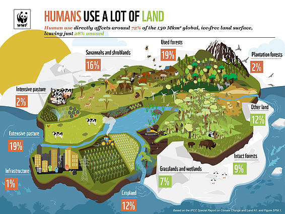 IPCC Land Report Infographic