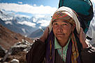 Local Woman on the road from Dengboche to Tuckla Pass, Nepal.
