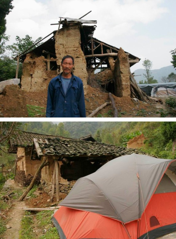 Most of the house at Changshaba village collapsed in the earthquake and the after raining season. Tents donated by WWF helped villagers a lot in the past five months.