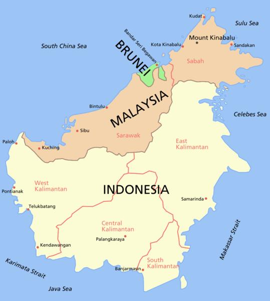 Heart of Borneo maps WWF