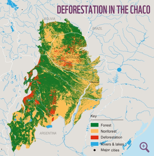The Gran Chaco WWF - Argentina agriculture map