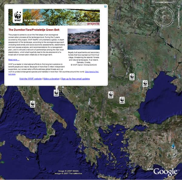 Download Google Earth and visit some of world's most threatened and