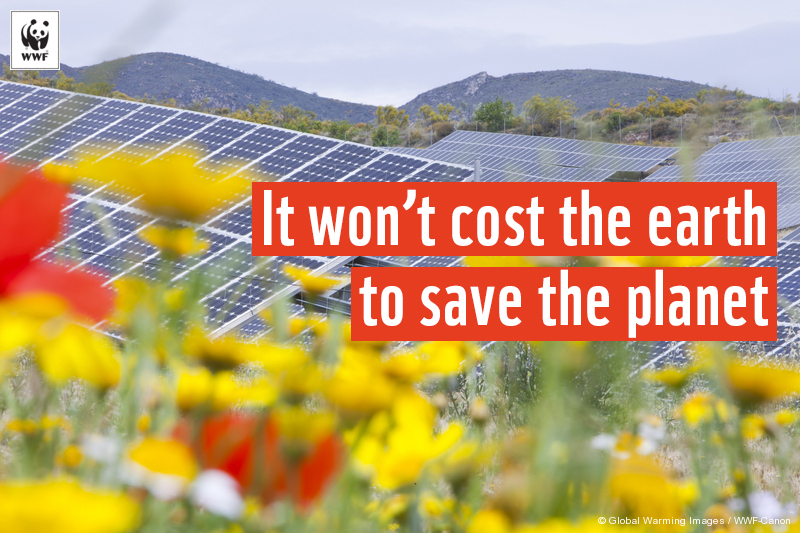 It won't cost the earth to save the planet.