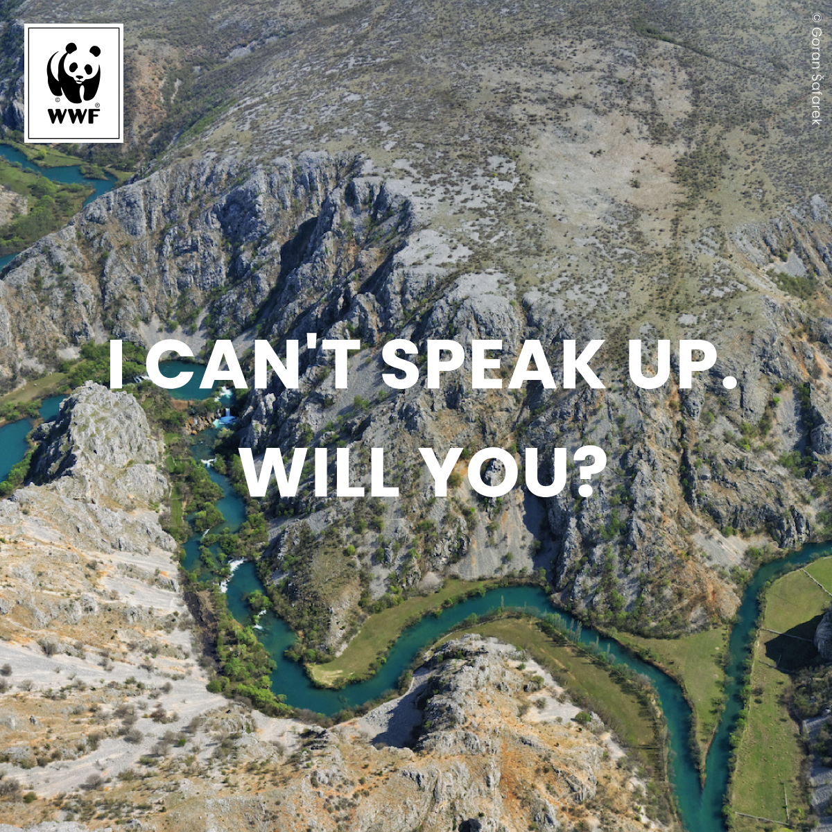 #ProtectWater campaign, confluence of Krupa and Zrmanja rivers in Croatia