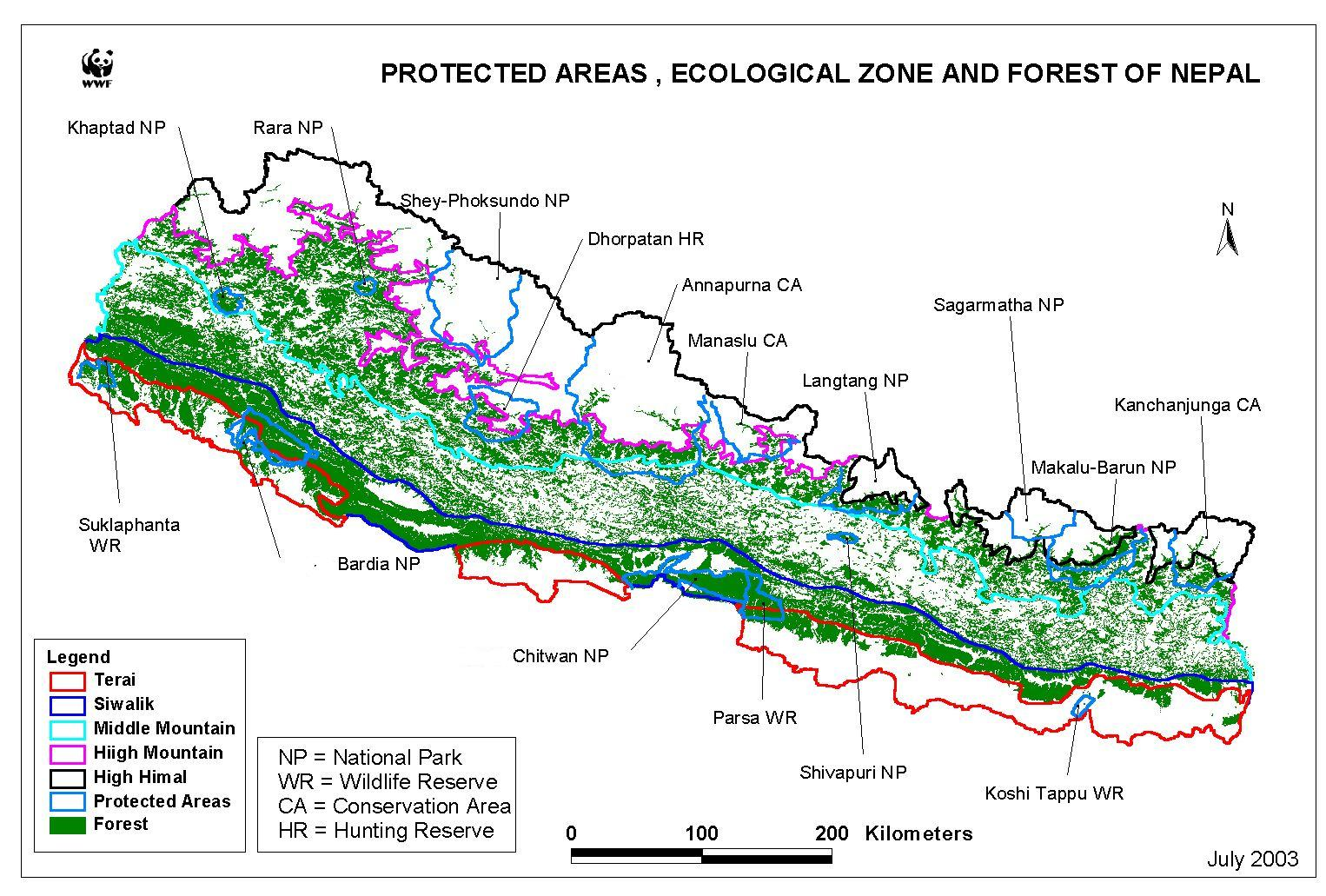 Protected Zones In Nepal
