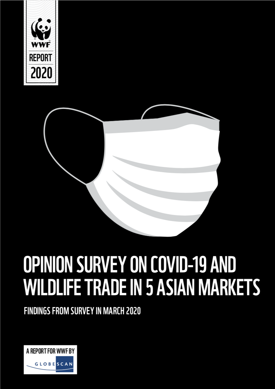 'Opinion survey on COVID-19 and wildlife trade in 5 Asian markets' report cover