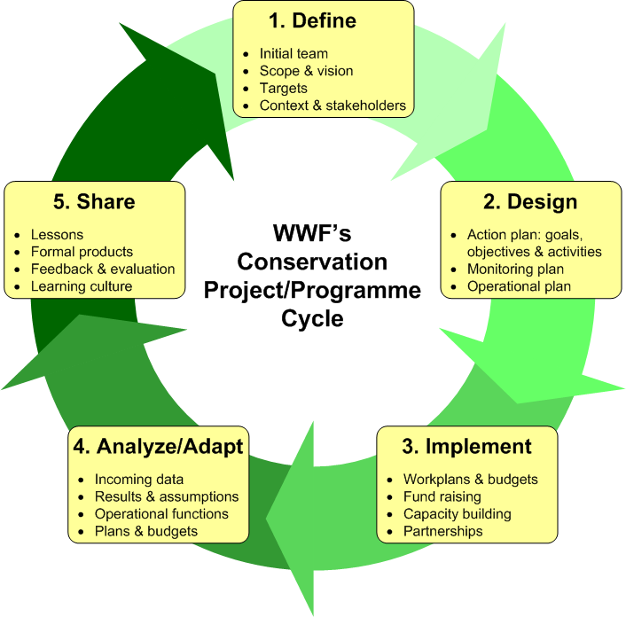 view the project cycle diagram