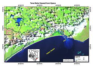 Tana Delta viewed from space.