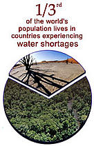 One third of the world's population lives in countries experiencing water shortages