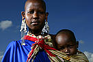Portrait of a Kenyan Woman and her baby. Lunga Lunga, between the Kenyan and Tanzanian borders.