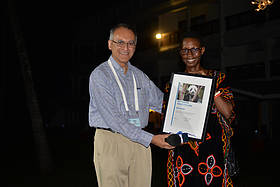 Monique Ntumngia announced as the International President's Youth award winner  © WWF