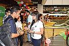 WWF Nepal staff interacting with visitors in a popular mall on Global Tiger Day